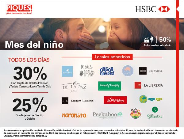 descuentos dia del niño HSBC