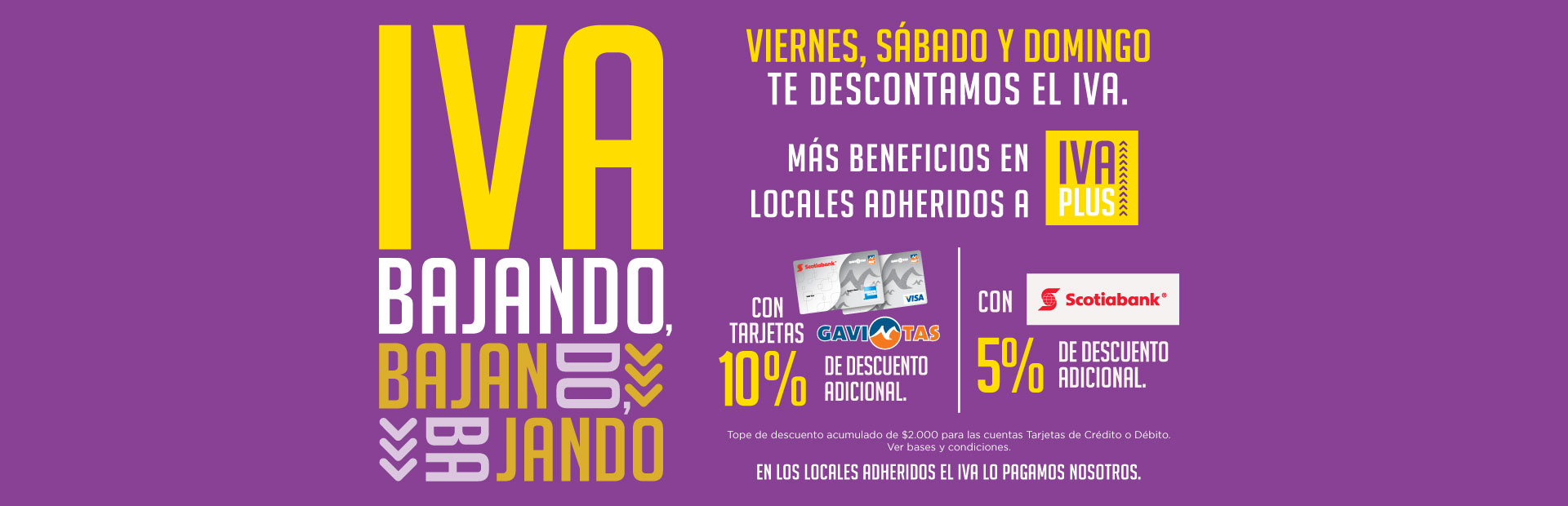 descuento iva montevideo shopping