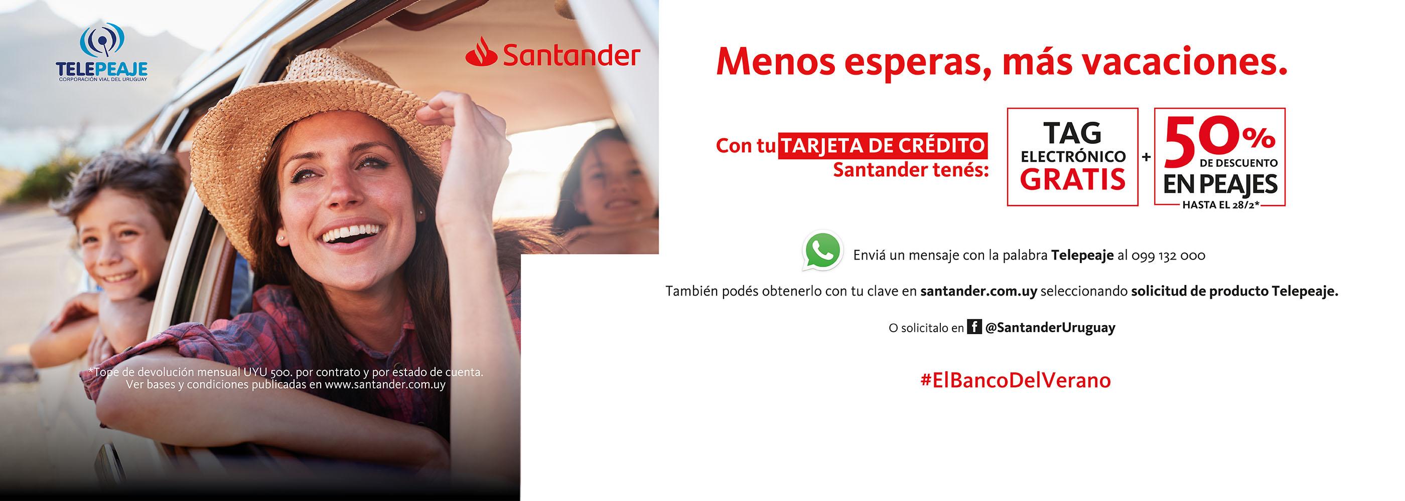 Descuentos Santander Telepeaje 2019