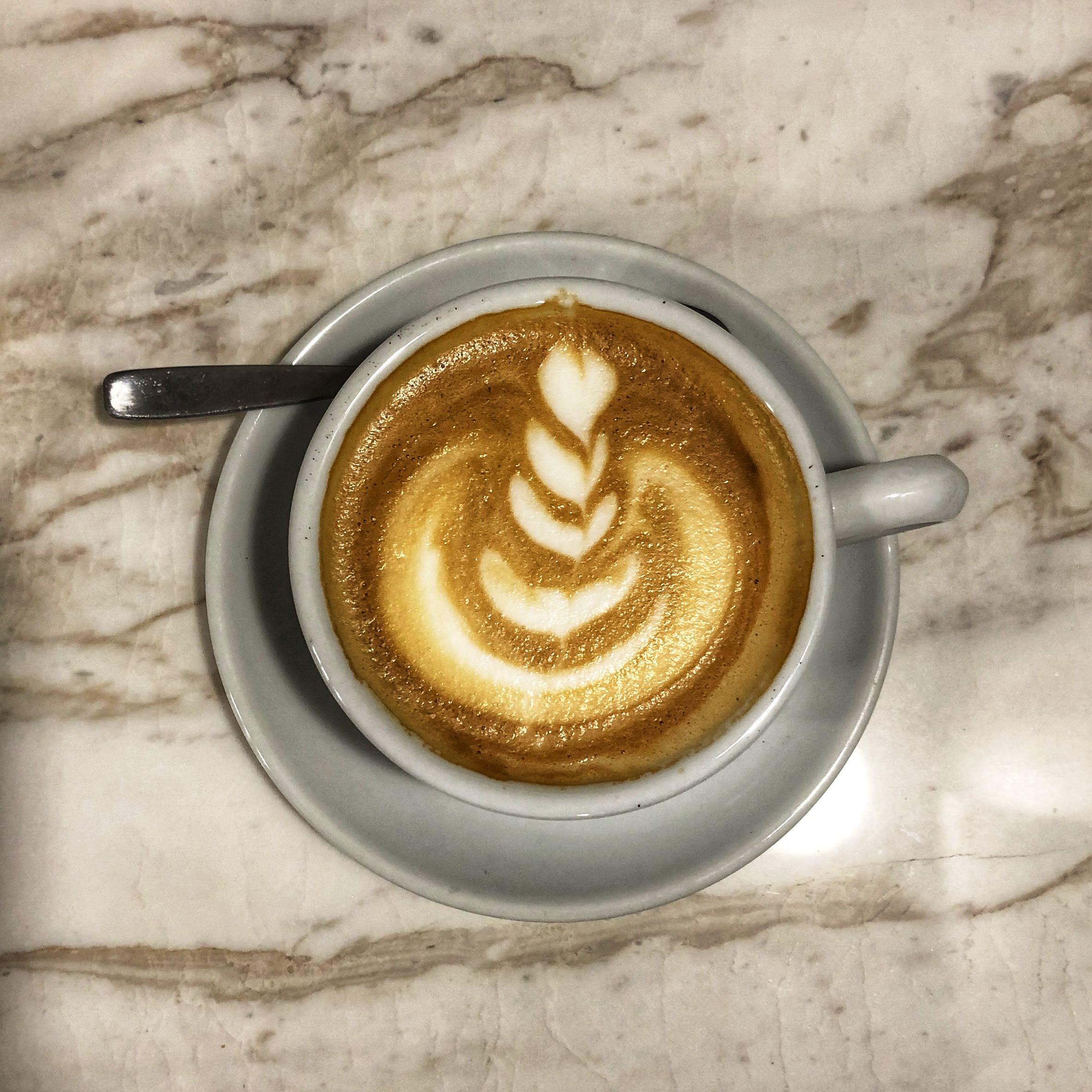 The Lab Coffee Roasters latte