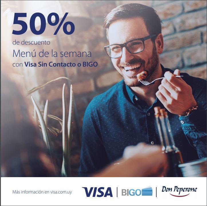 descuentos don peperone visa contactless