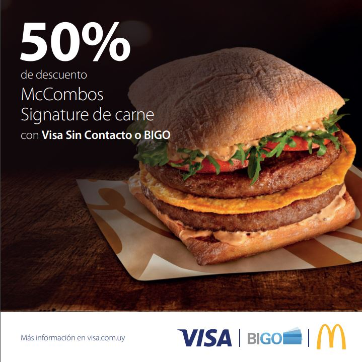 Descuentos en McDonald's visa contactless
