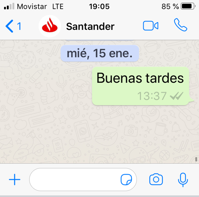 Santander Whatsapp